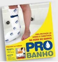 PROTEÇÃO DE GESSO E CURATIVOS NA HORA DO BANHO PARA PERNA