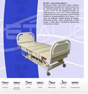 CAMA HOSPITALAR ELÉTRICA COM ELEVAÇÃO DE ALTURA